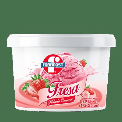 Helado Foremost fresa 1/2 galón